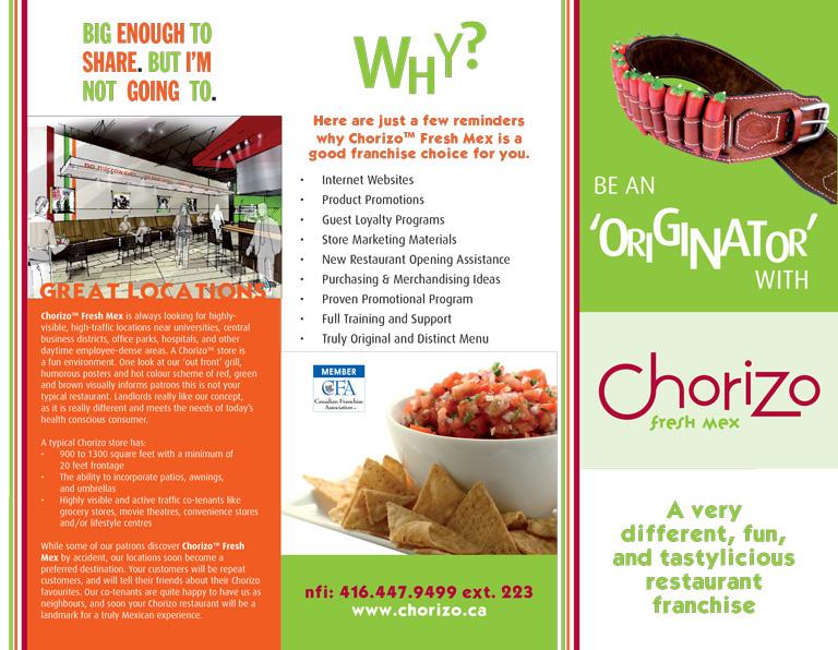 Chorizo Brochure